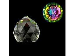 FENG SHUI kristallripats -- värviline kristallkuul 40 mm